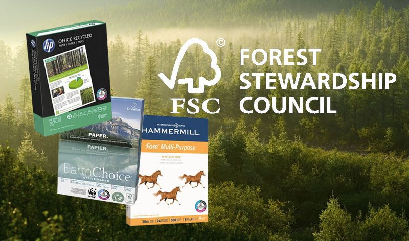 fsc certified paper When looking for paper for your next printing project, what do you look for to make sure that you are supporting environmentally friendly printing.