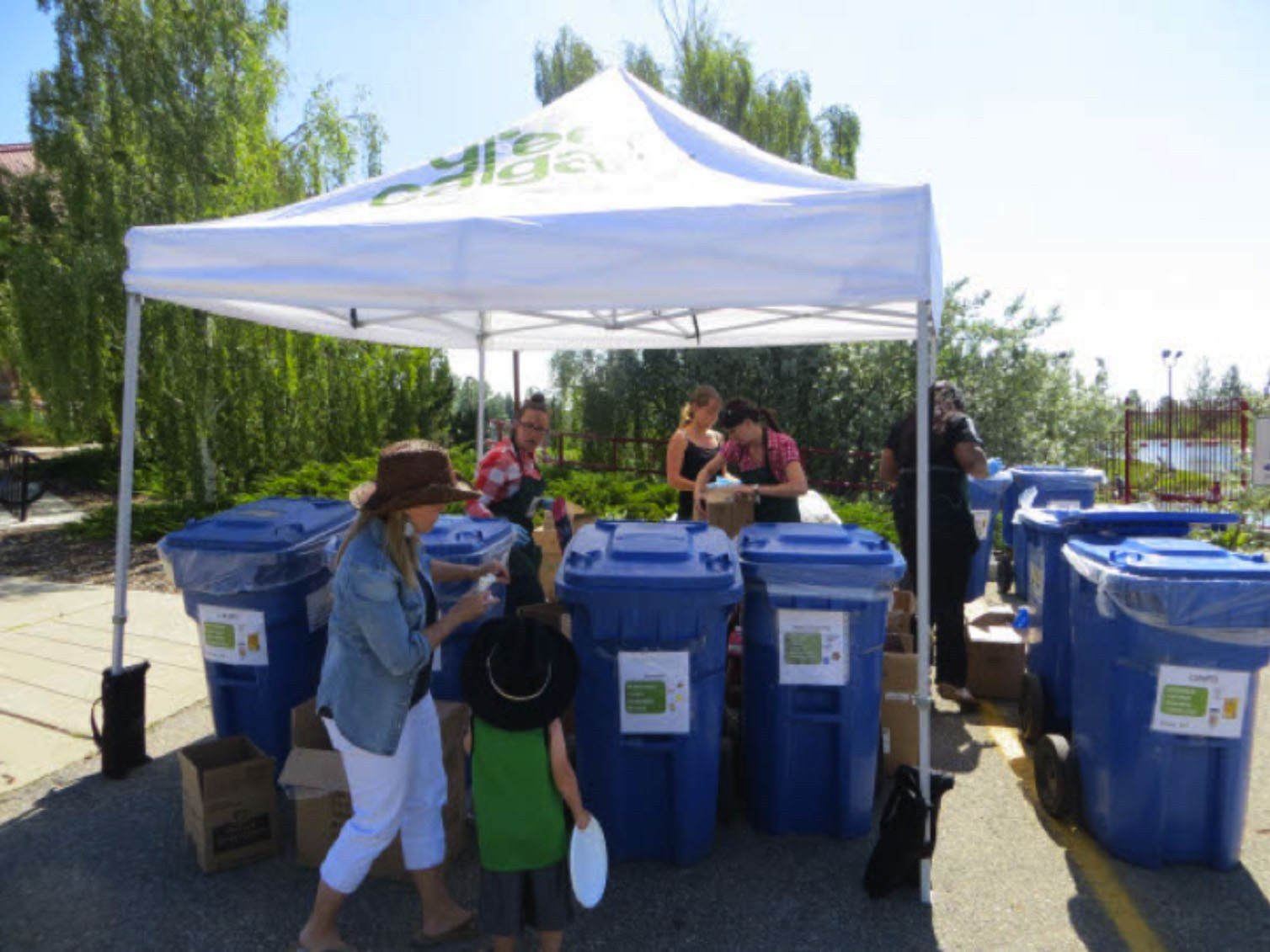 Waste diversion was up 10% over last year even as event attendance was up 25%