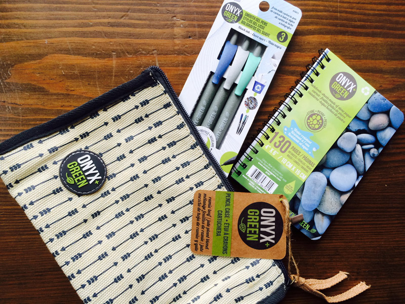 Onyx+Green sustainab;le back-to-school supplies