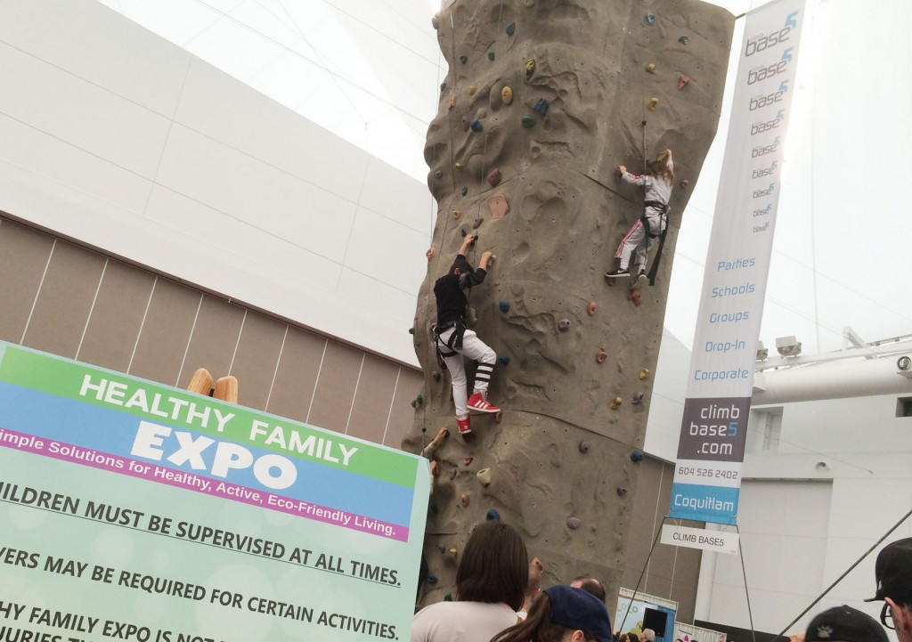 Family-expo-climbing-wall