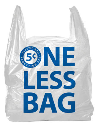 5¢ plastic bag fee at London Drugs