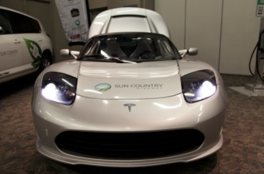 Tesla at Green Living Expo