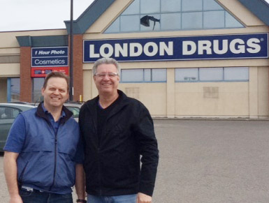 Christian Schenk, Store Manager at London Drugs, Prince George Mayor Lyn Hall