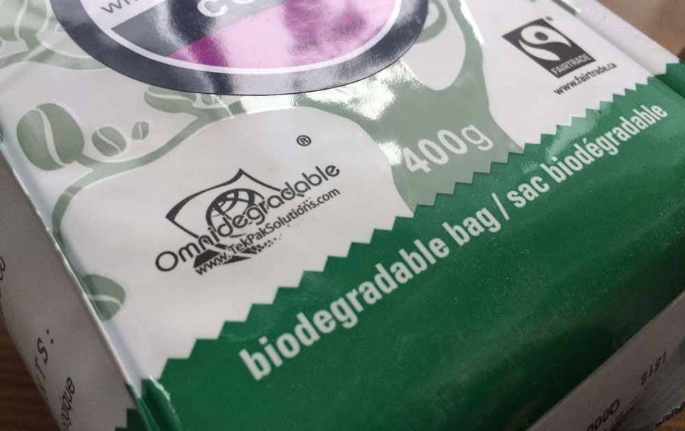 Earths Choice Biodegradable Coffee Bag