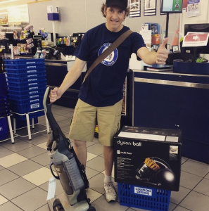 Recycling a Vacuum Cleaner at London Drugs